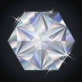 Cadeau précieux de pierre de diamant, vecteur Photographie stock
