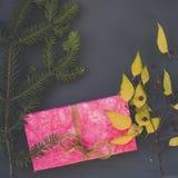 Cadeau rose Photographie stock libre de droits
