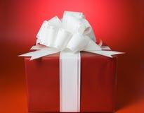 Cadeau rouge de cadre Photographie stock