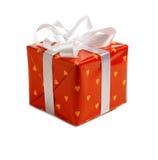 Cadeau rouge de Noël Images libres de droits