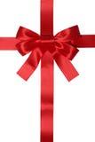 Cadeau rouge de ruban avec l'arc pour des cadeaux photos stock