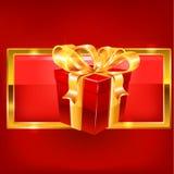 Cadeau rouge et blanc Photographie stock