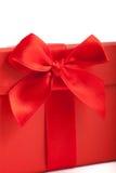 Cadeau rouge ornemental de Noël ou de valentines Image stock