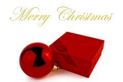 Cadeau rouge pour Noël Images libres de droits