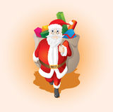 cadeau Santa de Claus Photos libres de droits