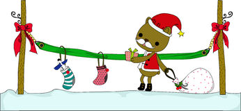 Cadeau spécial de Santa Photo libre de droits