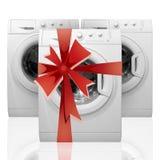 Cadeau - trois machines à laver Photos libres de droits