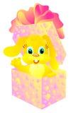 Cadeau un lapin dans un cadre. Illustration de vecteur   Photo stock