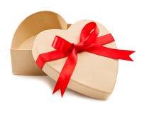 Cadeau, une boîte en carton ouverte photographie stock libre de droits