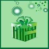 Cadeau vert de Noël Photographie stock