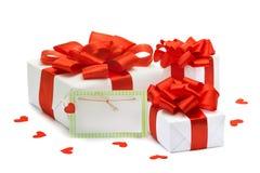 Cadeaux à la Saint-Valentin, anniversaire, le huitième mars Photo libre de droits