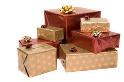 Cadeaux au-dessus de blanc Photographie stock