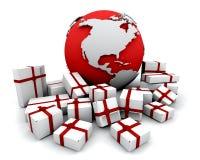 Cadeaux autour du monde Photographie stock libre de droits