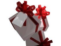 Cadeaux avec l'étiquette de cadeau Image libre de droits