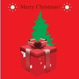Cadeaux avec le fond de Noël et le vecteur de carte de voeux Image stock