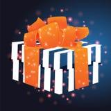 Cadeaux avec le fond de Noël et le vecteur de carte de voeux Photos libres de droits