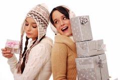 Cadeaux avides de Noël Photo libre de droits