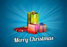 Cadeaux bleus Image libre de droits