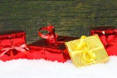 Cadeaux, cadeaux de Noël Photo stock