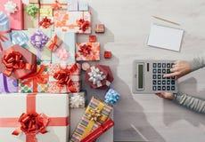 Cadeaux chers de Noël Photos libres de droits