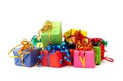 Cadeaux colorés Photos stock