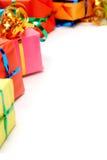 Cadeaux colorés Images libres de droits