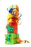 Cadeaux colorés Photo stock