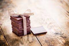 Cadeaux délicieux de chocolat, fabriqués à la main Photographie stock