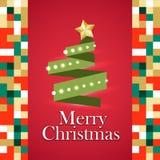 Cadeaux d'arbre de Noël matériels illustration de vecteur