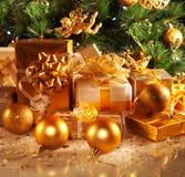 Cadeaux d'an neuf Photos stock