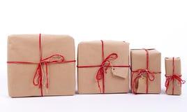 Cadeaux dans une rangée Image libre de droits