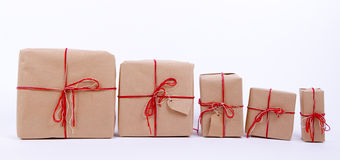 Cadeaux dans une rangée Photographie stock