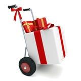 Cadeaux de chariot Photos stock