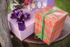 Cadeaux de décor de mariage image stock