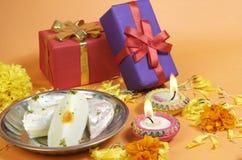 Cadeaux de Diwali images libres de droits