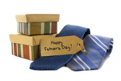 Cadeaux de jour de pères Image libre de droits