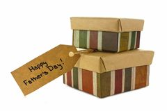 Cadeaux de jour de pères d'isolement Images libres de droits