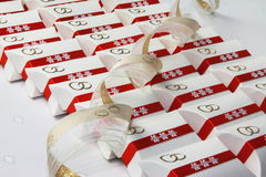 Cadeaux de mariage. Photographie stock libre de droits