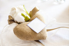 Cadeaux de mariage pour l'invité photographie stock