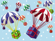 Cadeaux de Noël illustration stock