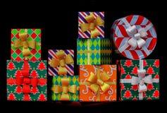 Cadeaux de Noël colorés images libres de droits