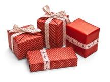 Cadeaux de Noël d'isolement Image stock