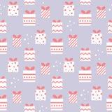 Cadeaux de Noël dans le modèle sans couture de vecteur de style géométrique Image stock