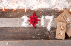 Cadeaux 2017 de Noël de bonne année Photo libre de droits