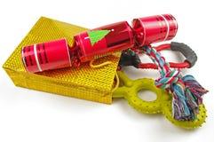Cadeaux de Noël de crabot Photos stock