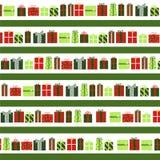 Cadeaux de Noël de fond Image libre de droits