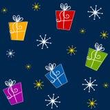 Cadeaux de Noël de Tileable Images libres de droits