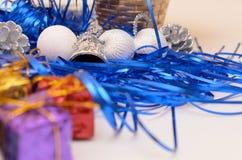 Cadeaux de Noël et d'an neuf Photos libres de droits
