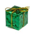Cadeaux de Noël et jouets d'isolement sur le fond blanc Image libre de droits