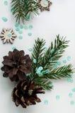 Cadeaux de Noël et cadeaux pour les vacances Branches et d impeccables Photos libres de droits